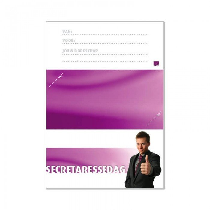 Printbare envelop Secretaressedag
